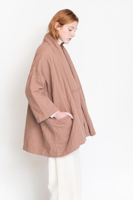 Atelier Delphine Haori Coat - Baked Coral