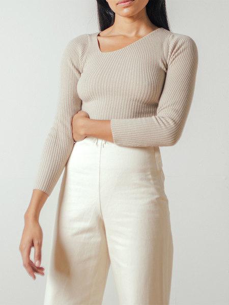 Shaina Mote Curve Sweater in Dun