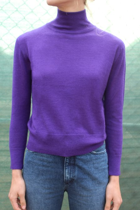 Beklina Cashmere Turtleneck - Purple
