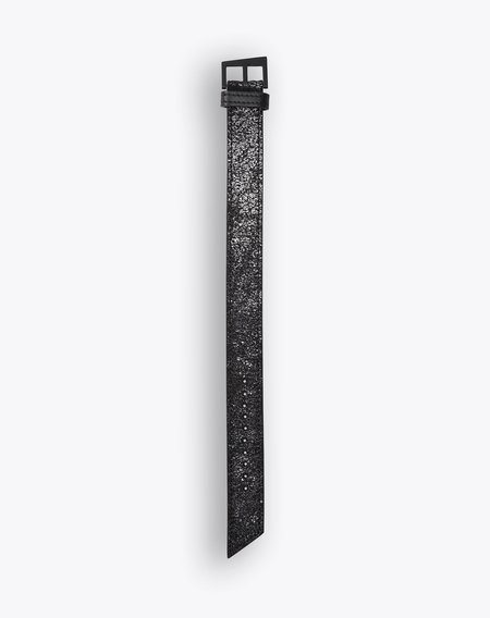 South Lane Suede And Silver Foil Leather Strap