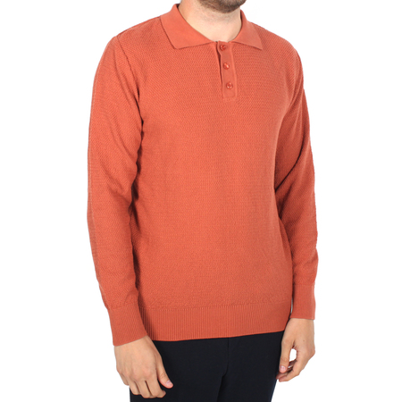 Afield Meehan Knitted Long Sleeve Polo