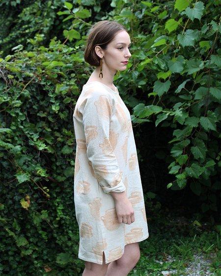 PO-EM Brunch Dress in Jug Block Print