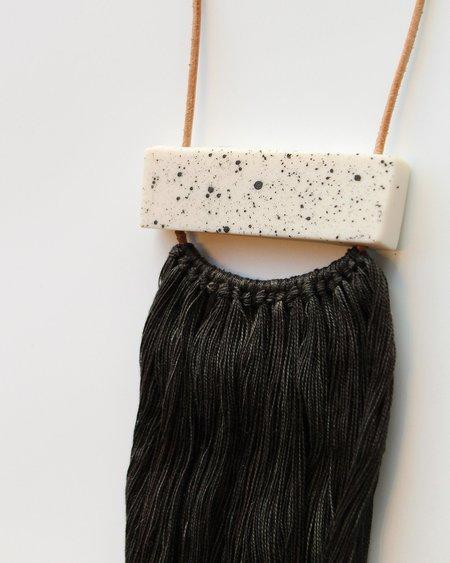 BARROW PDX Ceramic Speckle/Black Tassel Necklace