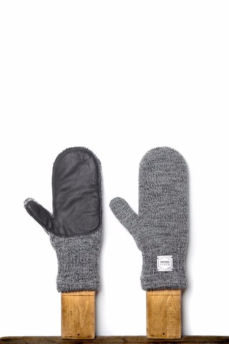 Unisex Upstate Stock Mittens with Deer Skin