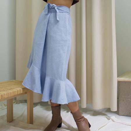 Ajaie Alaie Flamenca Skirt - Sky