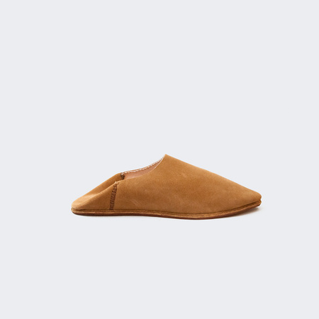 Brother Vellies Suede Babouche - Nutmeg