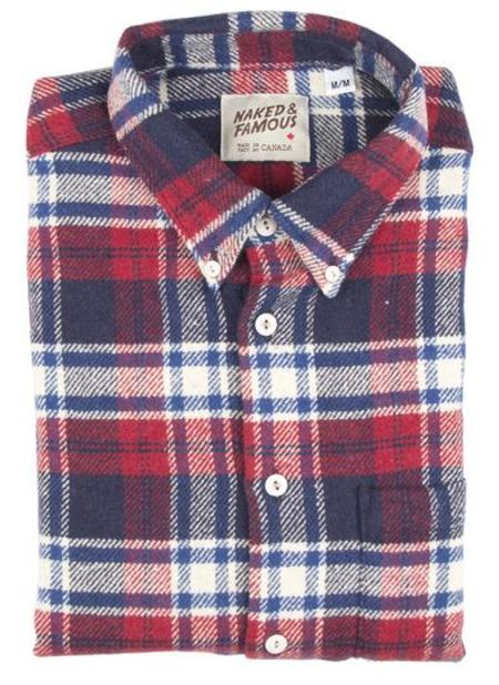 Naked & Famous REGULAR SHIRT  HEAVY FLANNEL BRUSHED