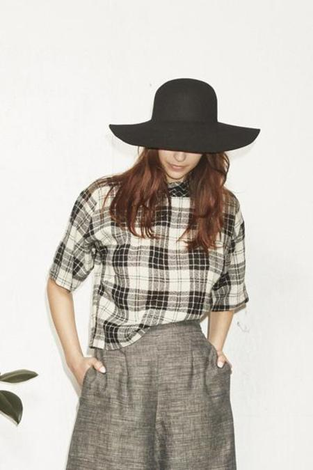 H. Fredriksson Crop Top Plaid