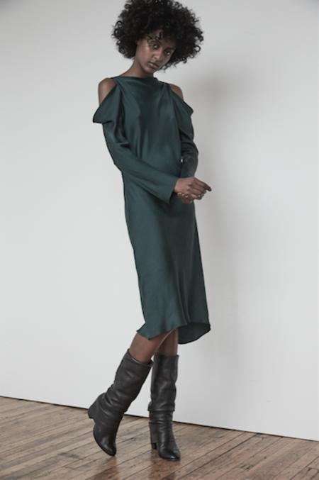 KES Wave Sleeve Slip Dress