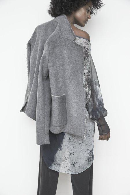 KES Cropped Minimal Wool Coat