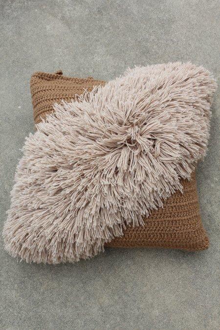 Beklina Alpaca Handmade Alta Fringe Pillow Coco