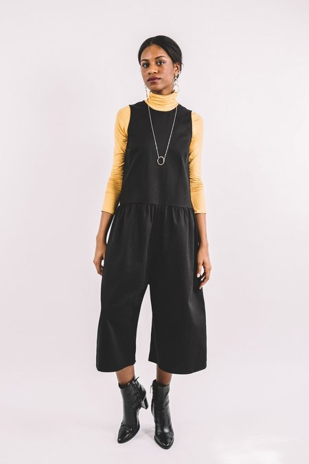 In God We Trust Louise Jumpsuit - Black Twill