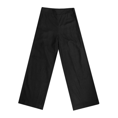 Ali Golden SILK HIGH WAISTED PANT - BLACK