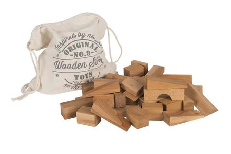 Kids Wooden Story Natural Blocks XL, 50 Pieces