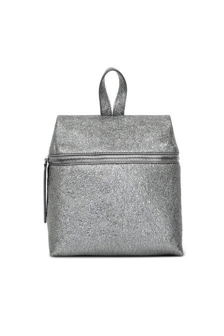 KARA Crinkled Metallic Small Backpack