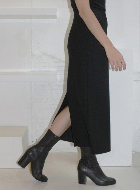 Association Waltz Wool Jersey Straight Skirt - Black