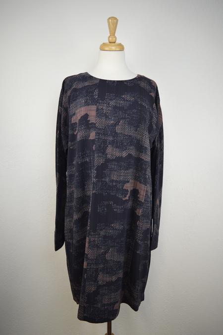 Elk Shanghai Print Silk Dress