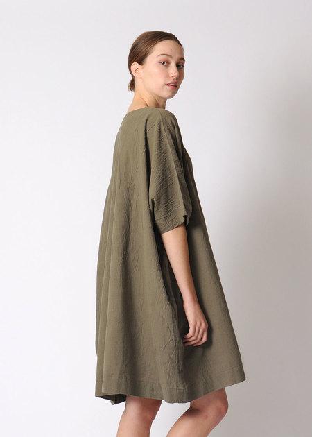 Uzi Coarse Cotton Box Dress