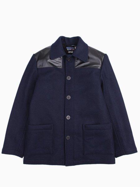Blue Blue Japan Wool Melton Donkey Jacket - Navy