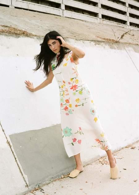 Penny Sage Double Fantasy Dress - Wildflowers