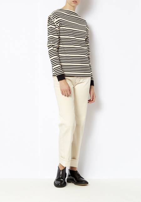 Opening Ceremony Breton Striped Button Off Top