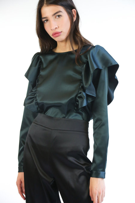 Just Female Lyra Blouse - Woods Green