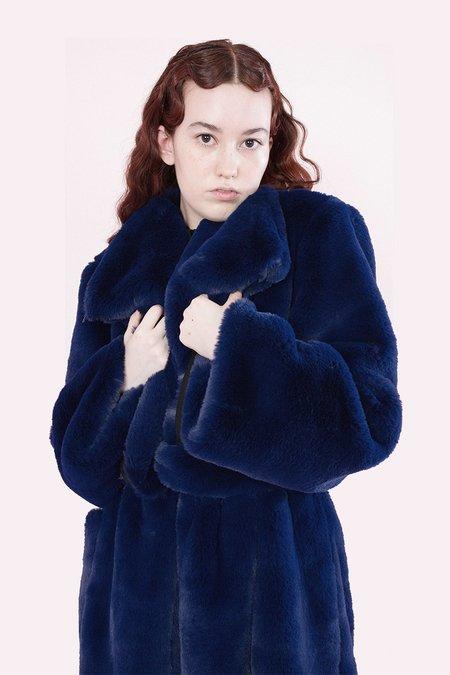Samantha Pleet Souverign Coat - Sapphire
