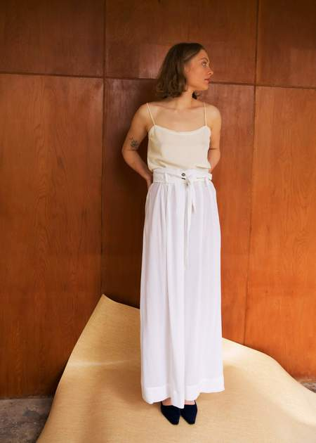 Penny Sage Alessi Skirt - White