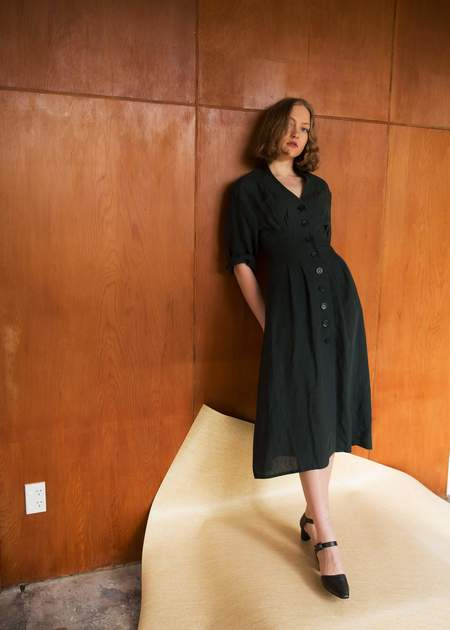 Penny Sage Neneh Coat Dress - Liquorice