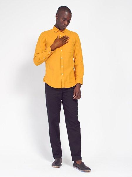 Portuguese Flannel Teca Shirt - Mustard