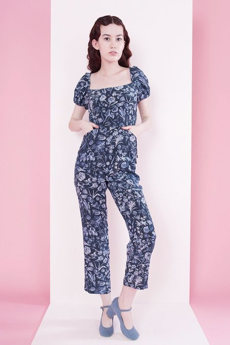 Samantha Pleet Juliet Jumpsuit - Blueprint Floral