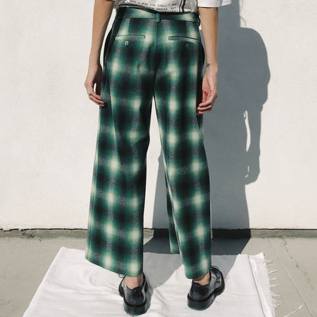 Hope Fort Trouser - Bold Green/Grey Plaid