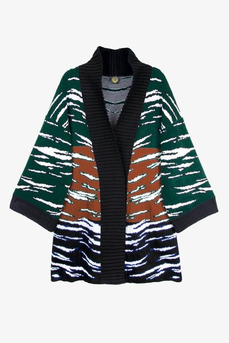 A Peace Treaty Hirado Green Knit Oversized Cardigan