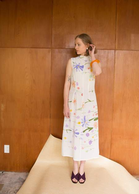 Penny Sage Double Fantasy Dress - Spring Meadow