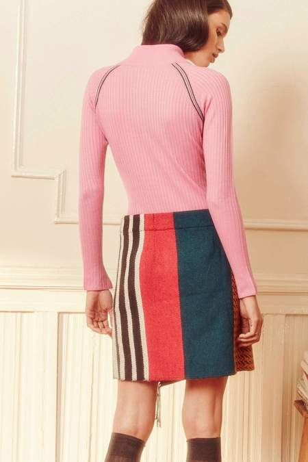 A Peace Treaty Mihara Pink Wrap Skirt