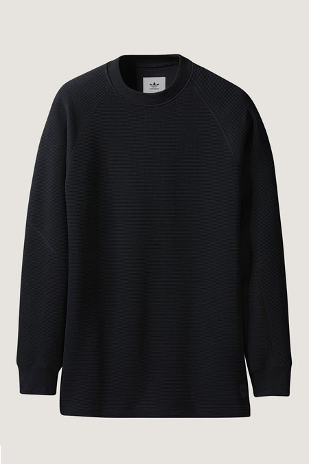 Adidas X Wings + Horns Double Waffle Knit Crewneck - Black
