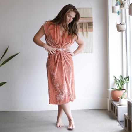 Miranda Bennett Knot Dress - Velvet Anais