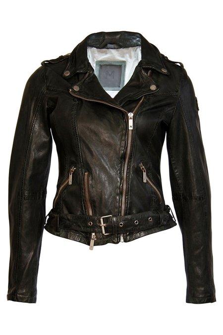 7 on Locust Wild Leather Jacket - Green