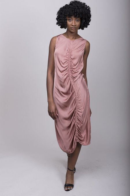 Raquel Allegra Liquid Satin Maxi Dress - Petal