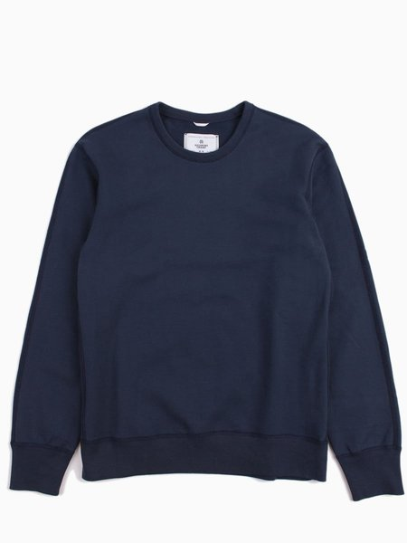 Reigning Champ Knit Mid Wt Terry Long Sleeve Crew - Steel