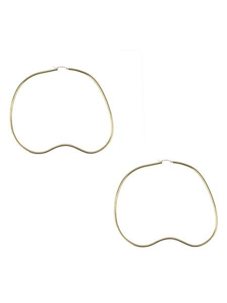 In God We Trust Bean Hoop Earrings - Brass