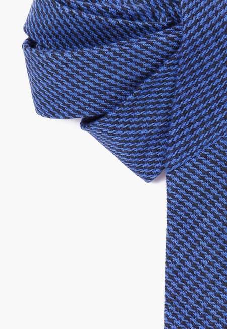 Deshal Houndstooth Necktie - Indigo
