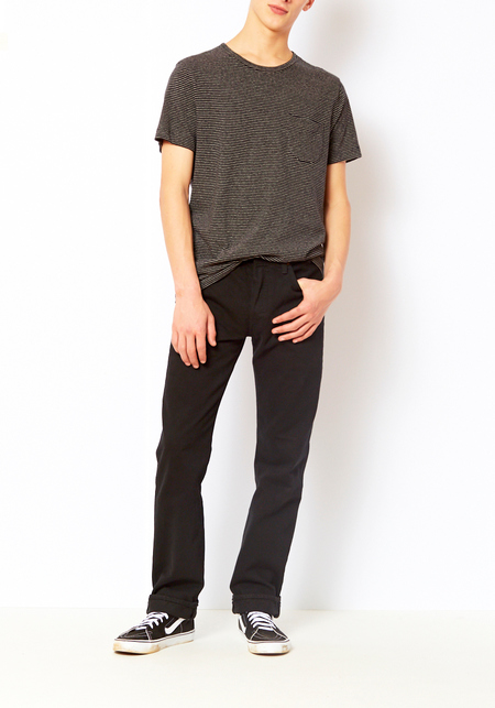 You Must Create Black Stripe Henri Tee