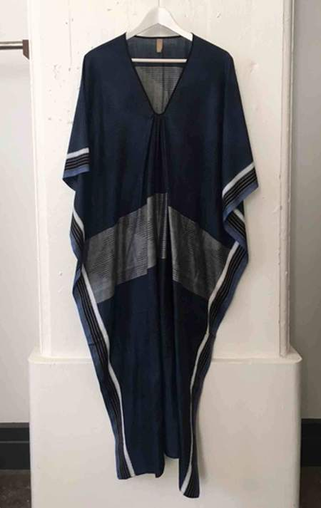 Two Steel Navy Caftan