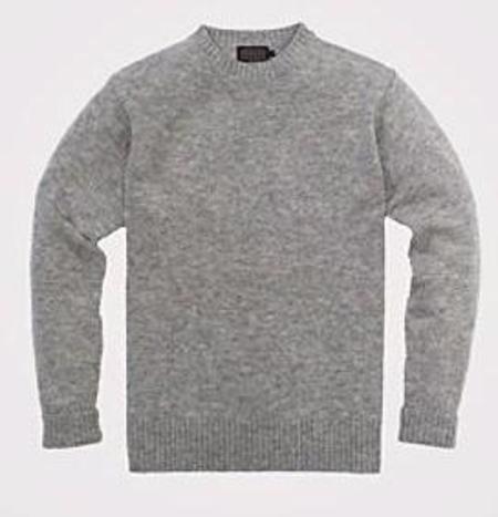 Pendleton Shetland Crew Sweater - Grey Heather