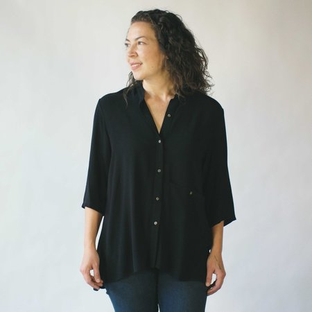 Dagg & Stacey Tiernan Button-Up in Black