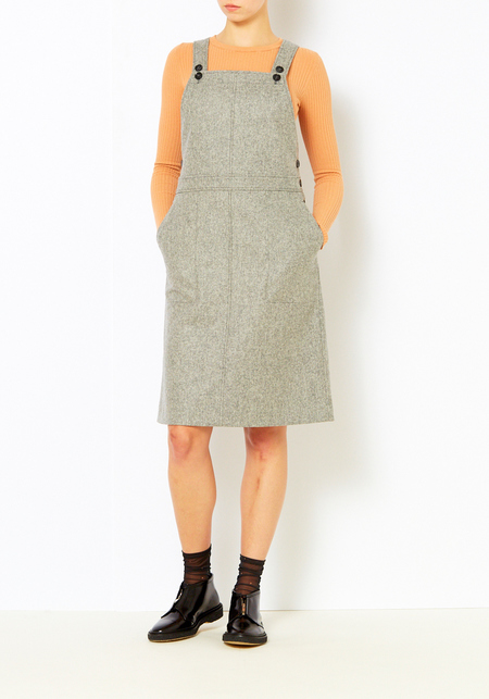 You Must Create Gray Wool Anni Dress