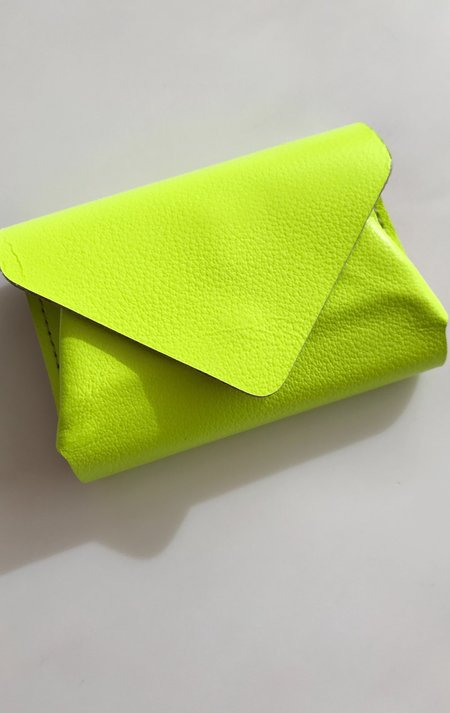 Carmine Flip Wallet - Fluorescent Yellow