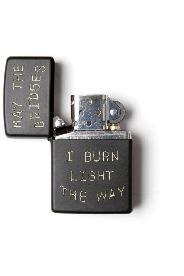 "Bridge & Burn ""Bridges I Burn"" - Zippo Black"