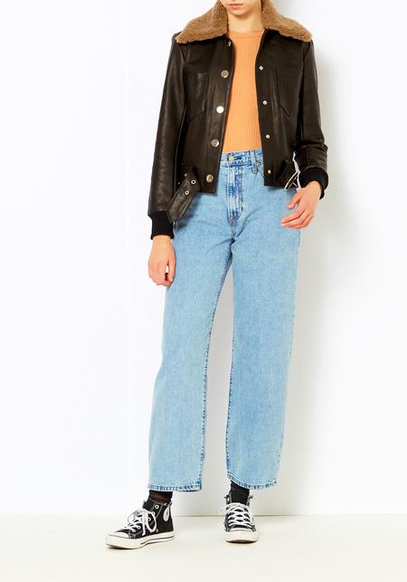 Veda Black Leather Series Jacket
